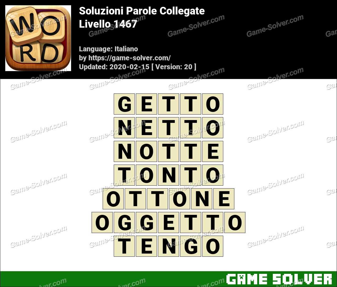 Soluzioni Parole Collegate Livello 1467