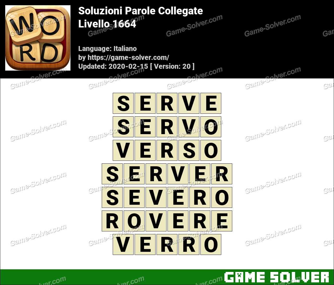 Soluzioni Parole Collegate Livello 1664
