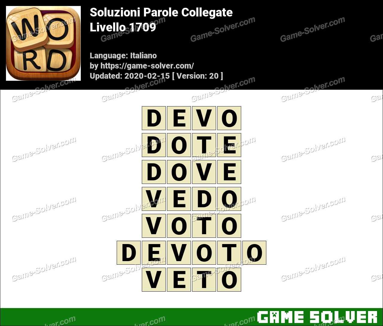 Soluzioni Parole Collegate Livello 1709