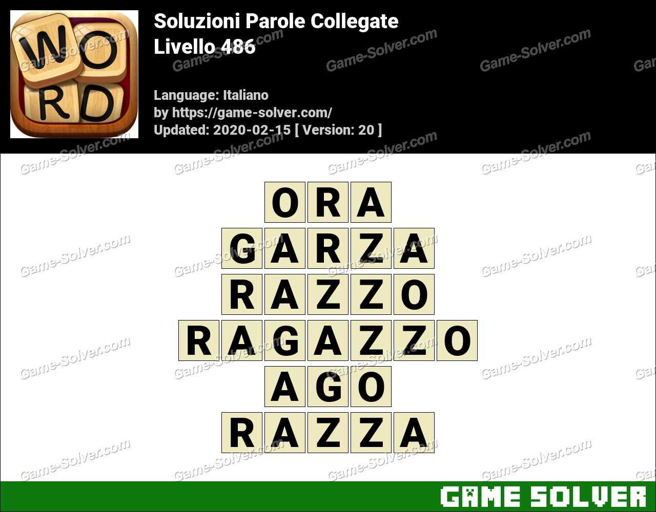 Soluzioni Parole Collegate Livello 486