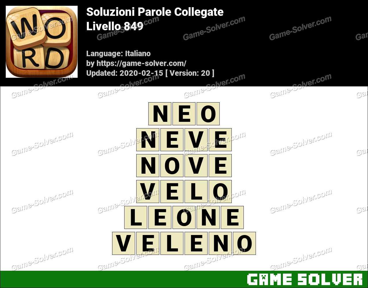 Soluzioni Parole Collegate Livello 849