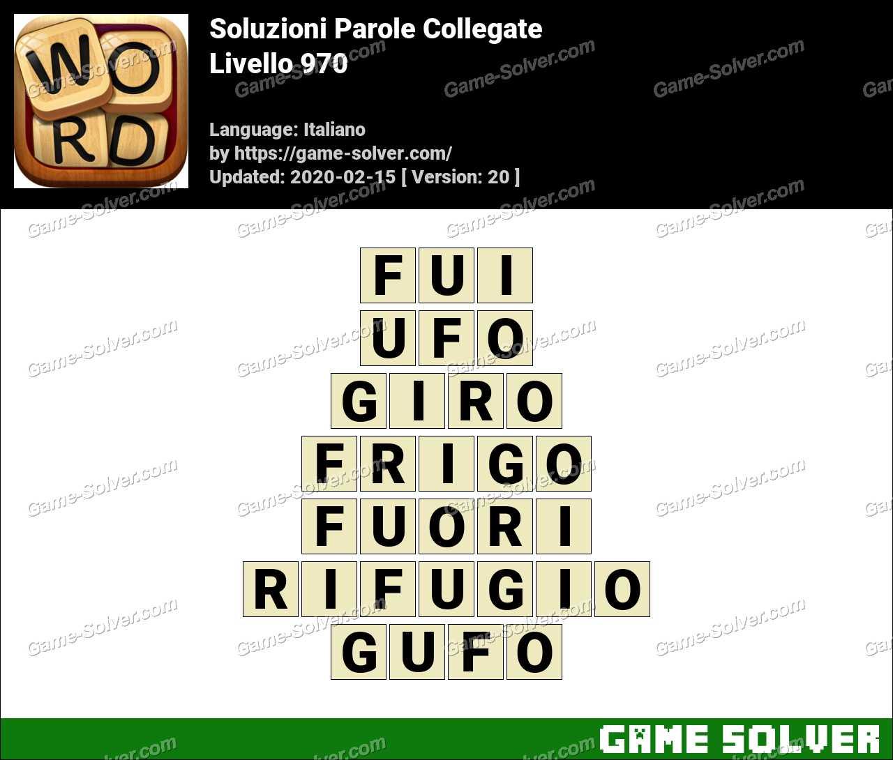 Soluzioni Parole Collegate Livello 970
