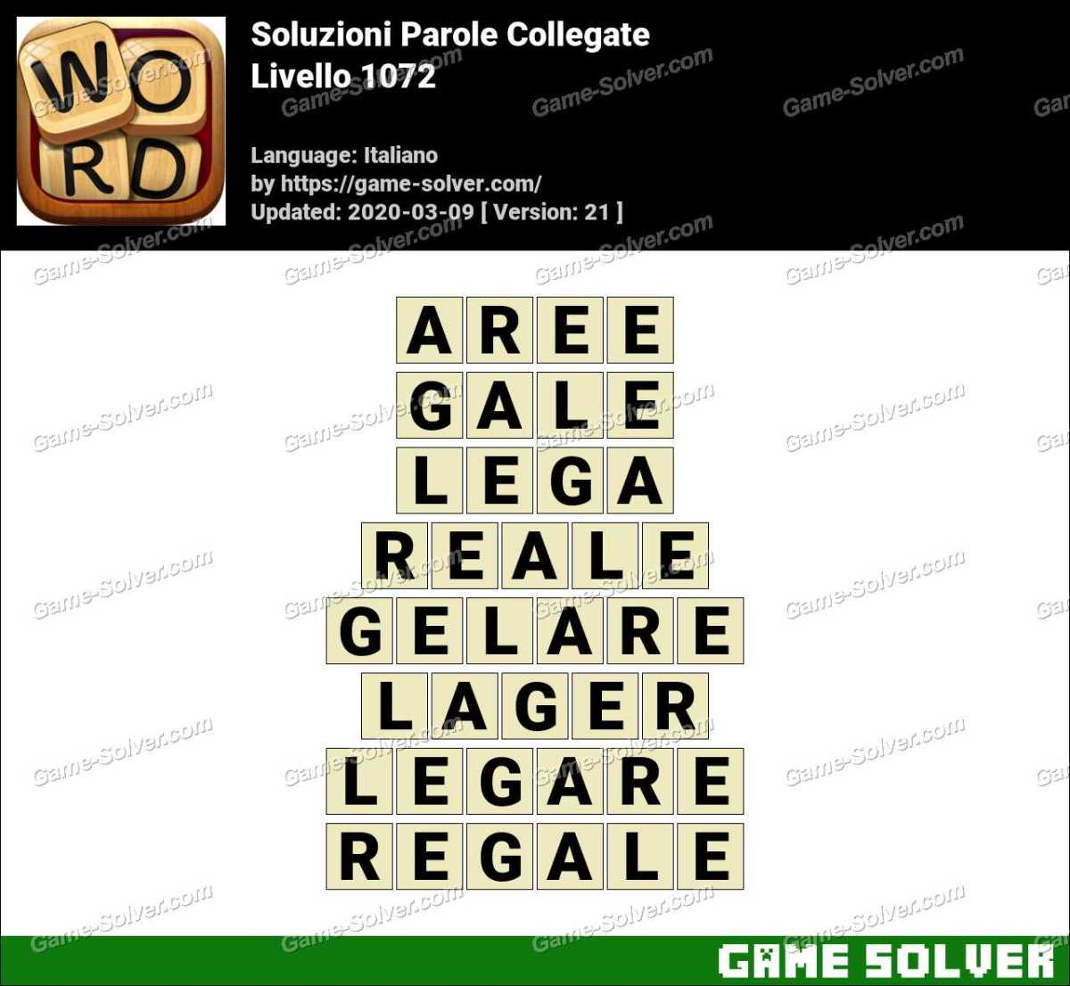Soluzioni Parole Collegate Livello 1072