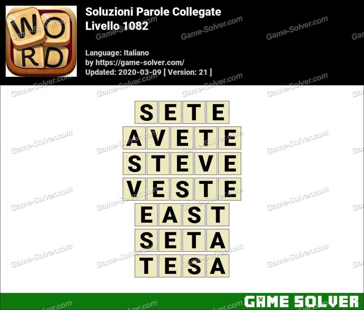 Soluzioni Parole Collegate Livello 1082