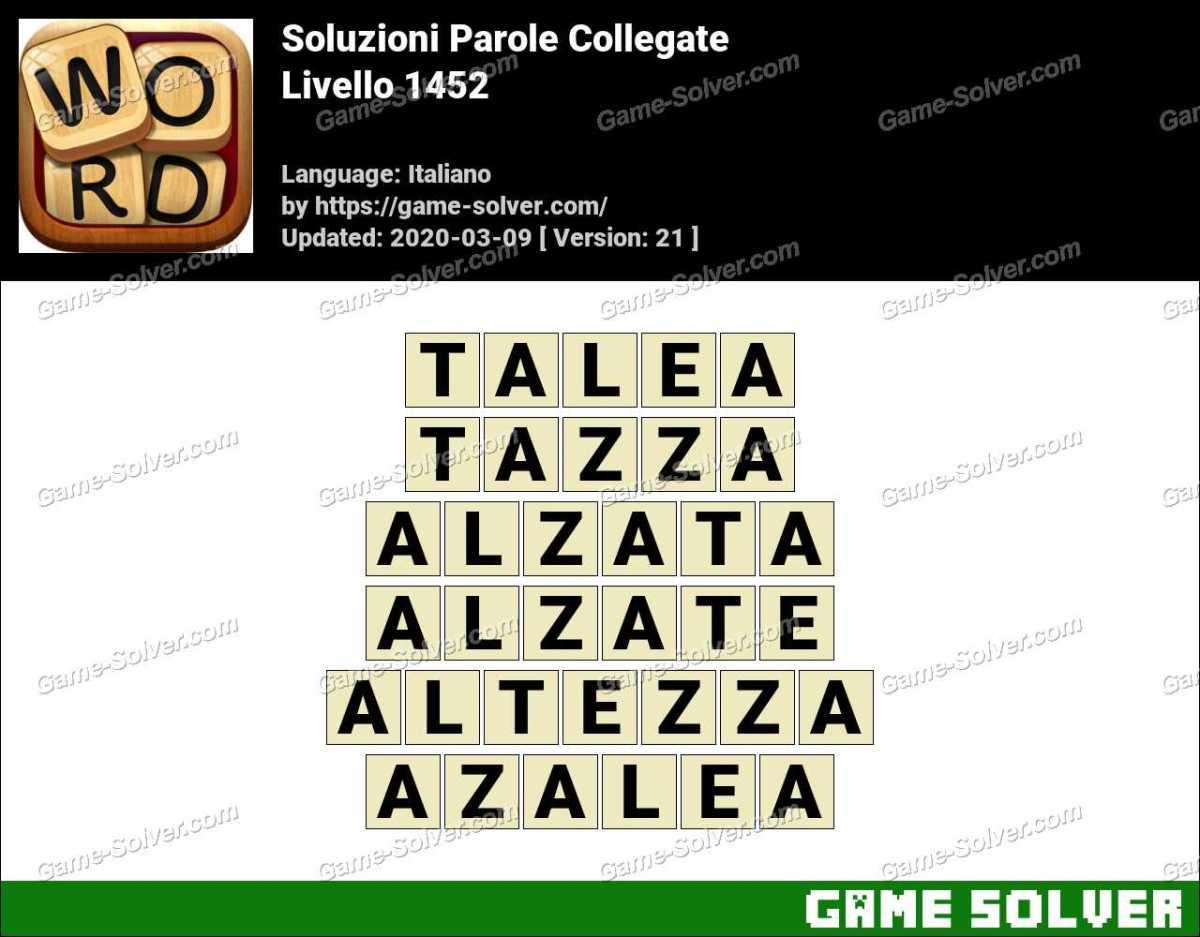 Soluzioni Parole Collegate Livello 1452