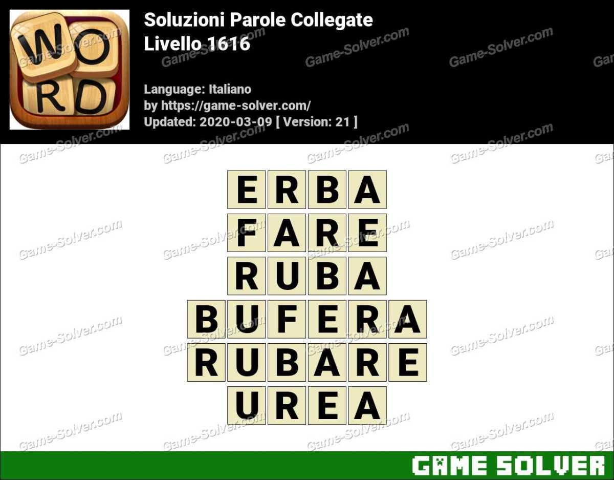 Soluzioni Parole Collegate Livello 1616