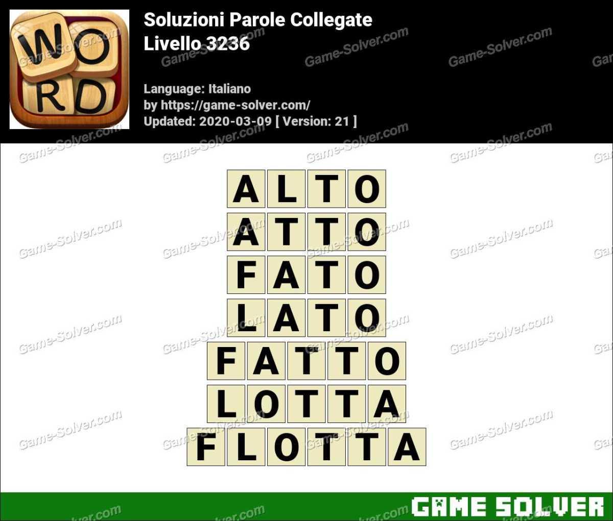 Soluzioni Parole Collegate Livello 3236