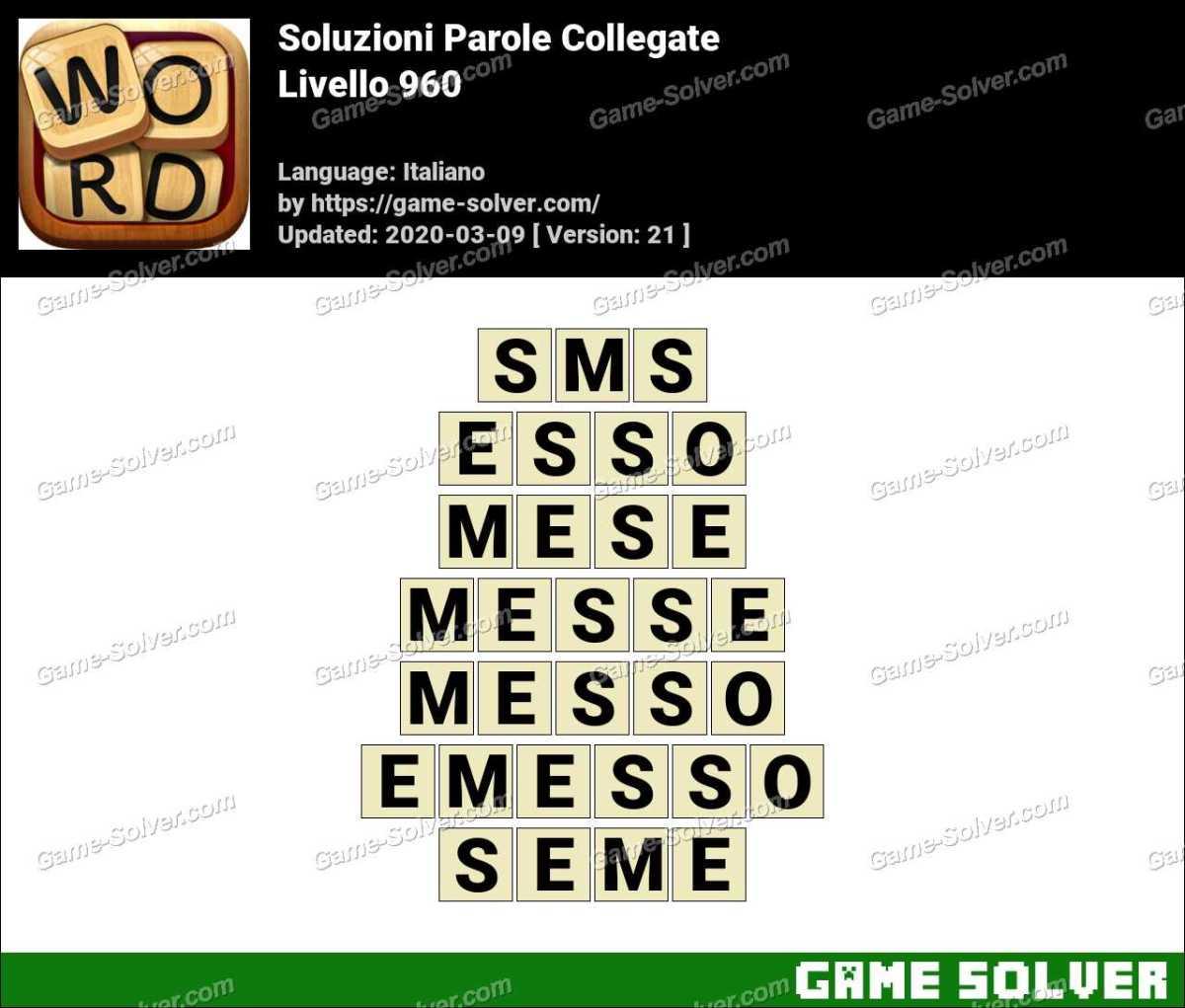 Soluzioni Parole Collegate Livello 960