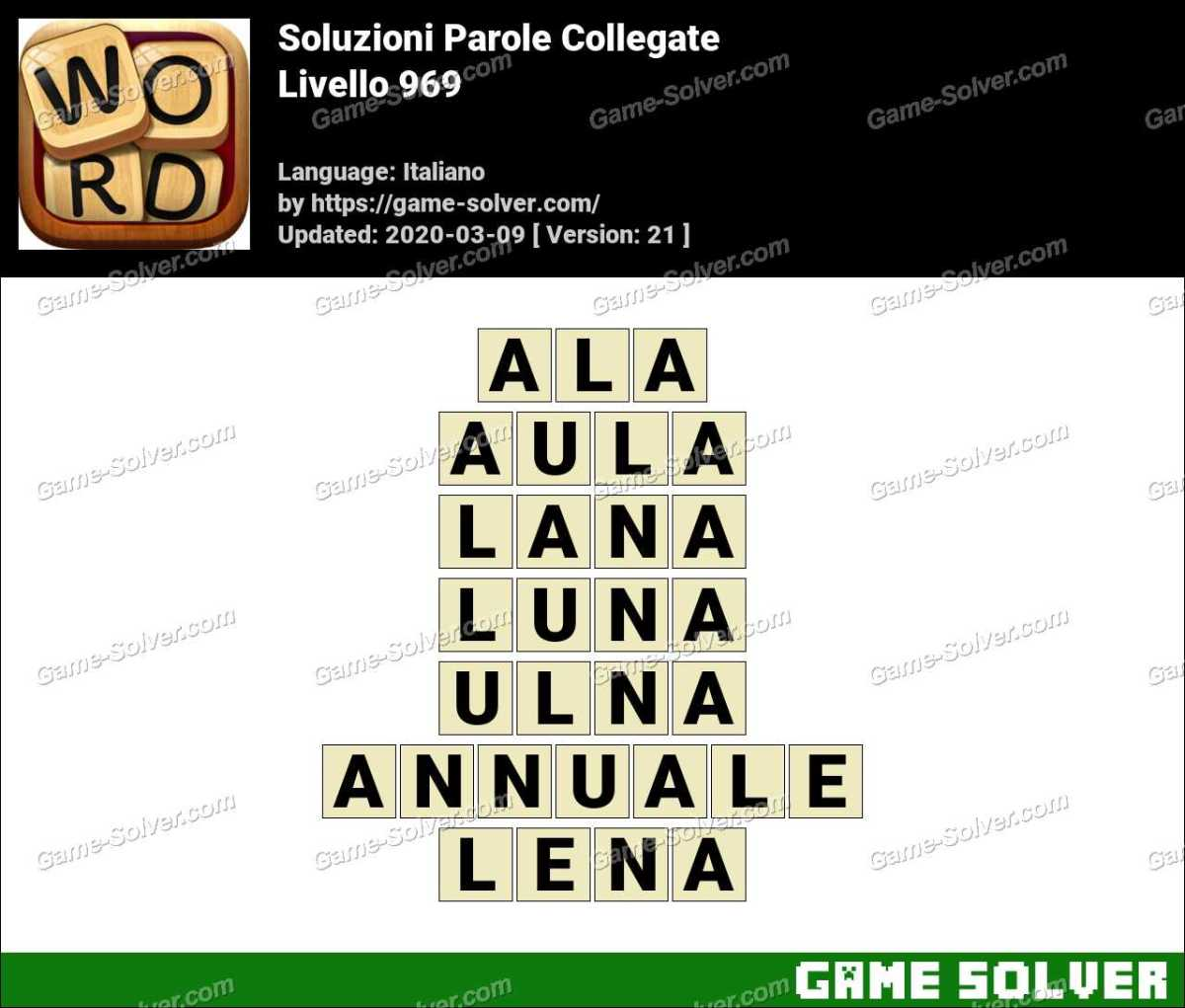 Soluzioni Parole Collegate Livello 969