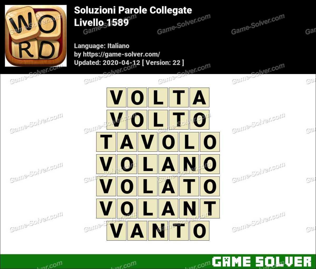 Soluzioni Parole Collegate Livello 1589