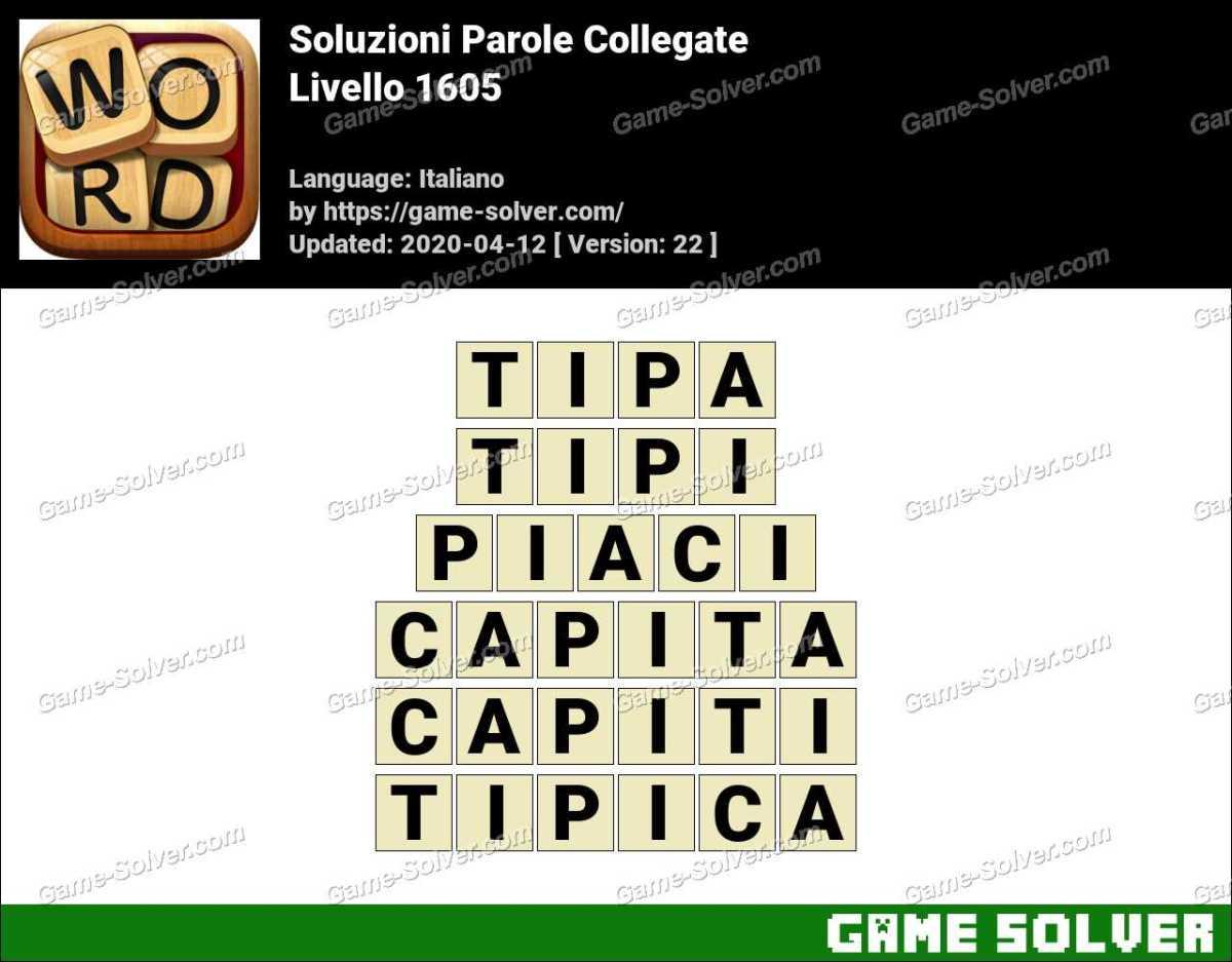 Soluzioni Parole Collegate Livello 1605