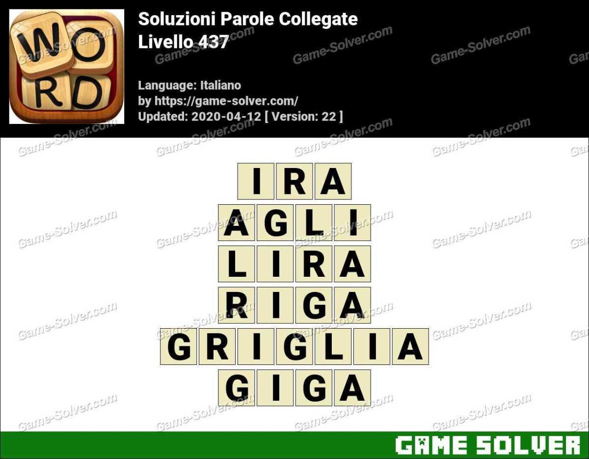 Soluzioni Parole Collegate Livello 437