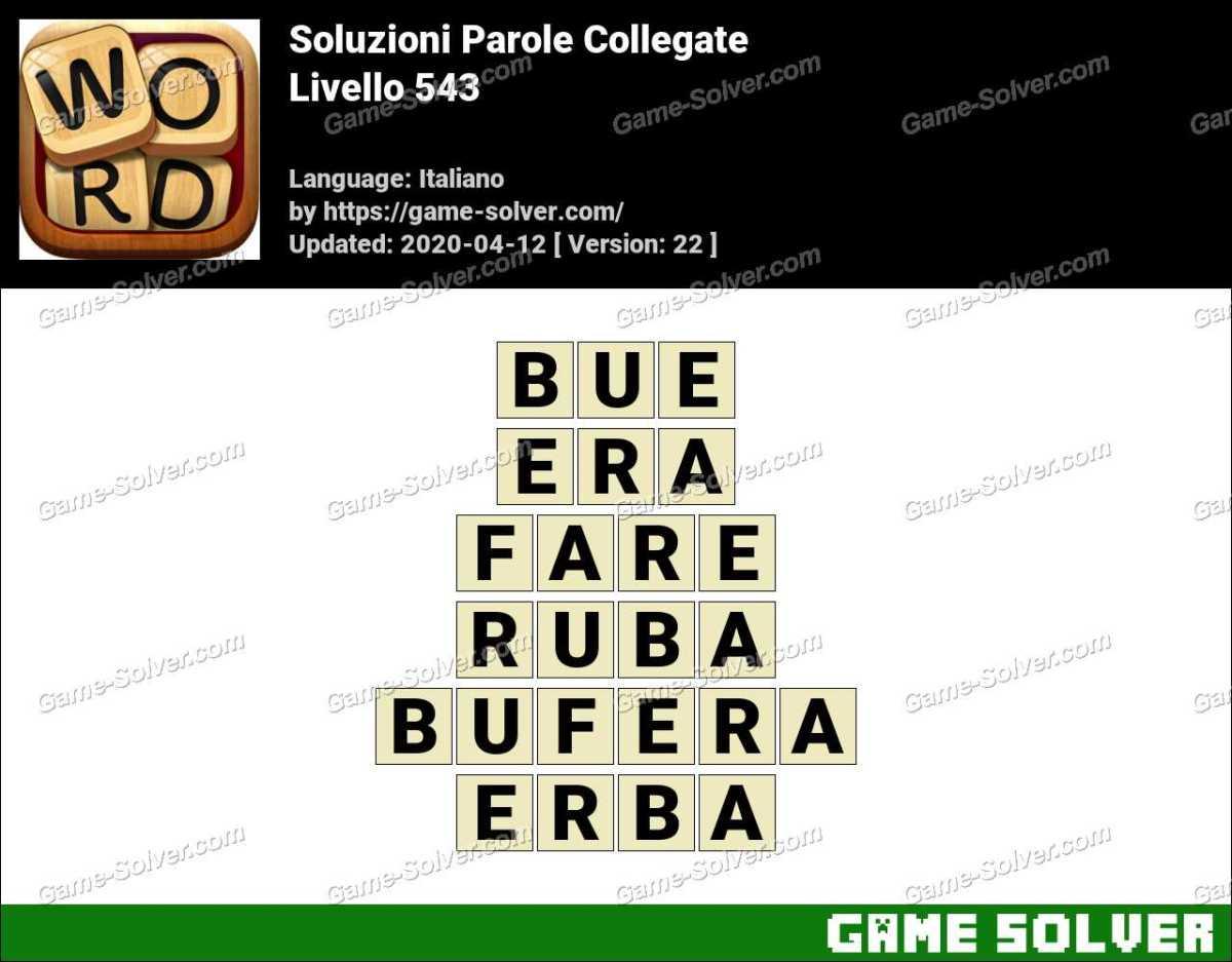 Soluzioni Parole Collegate Livello 543