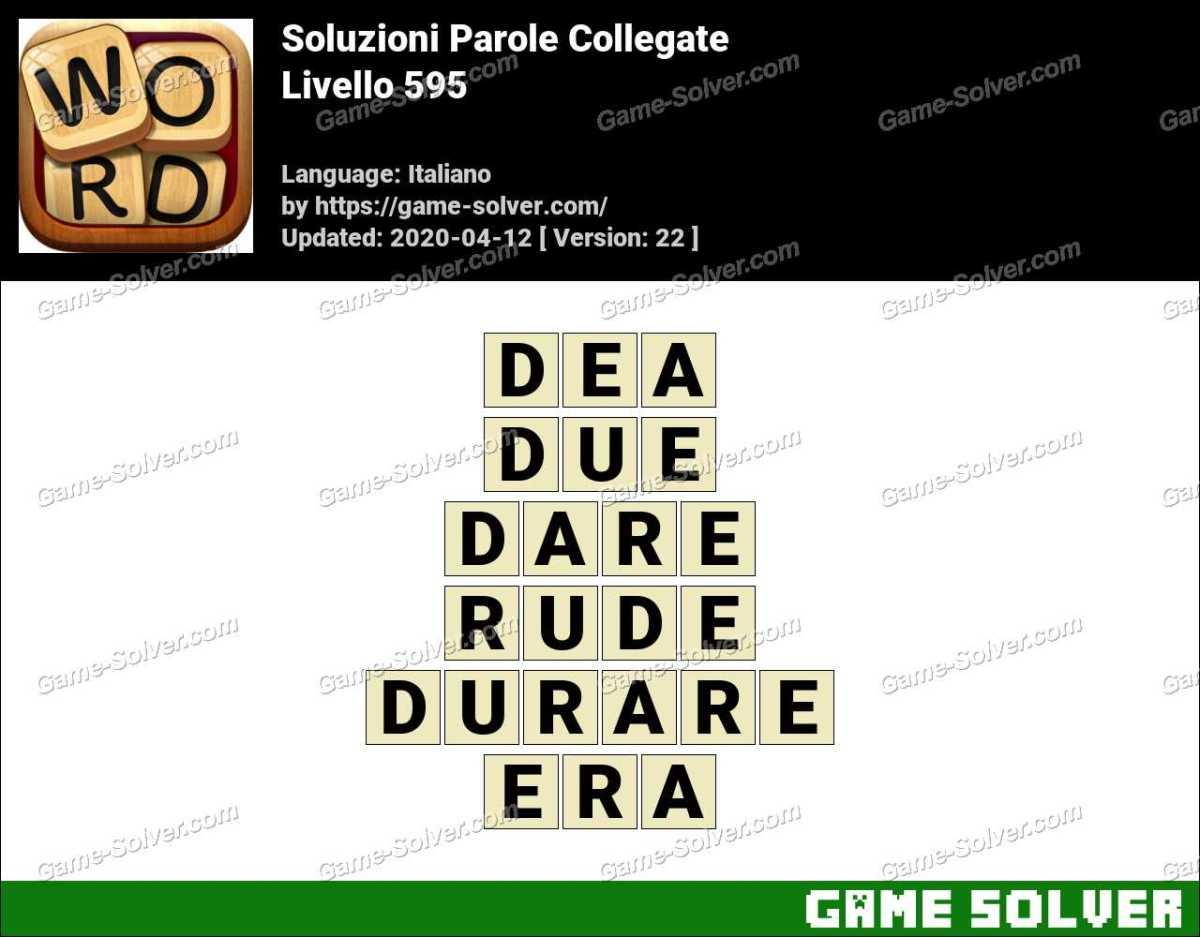 Soluzioni Parole Collegate Livello 595