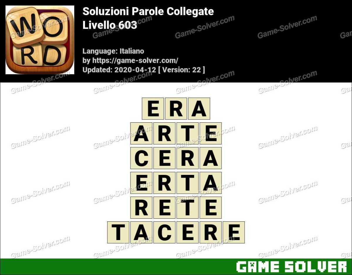 Soluzioni Parole Collegate Livello 603