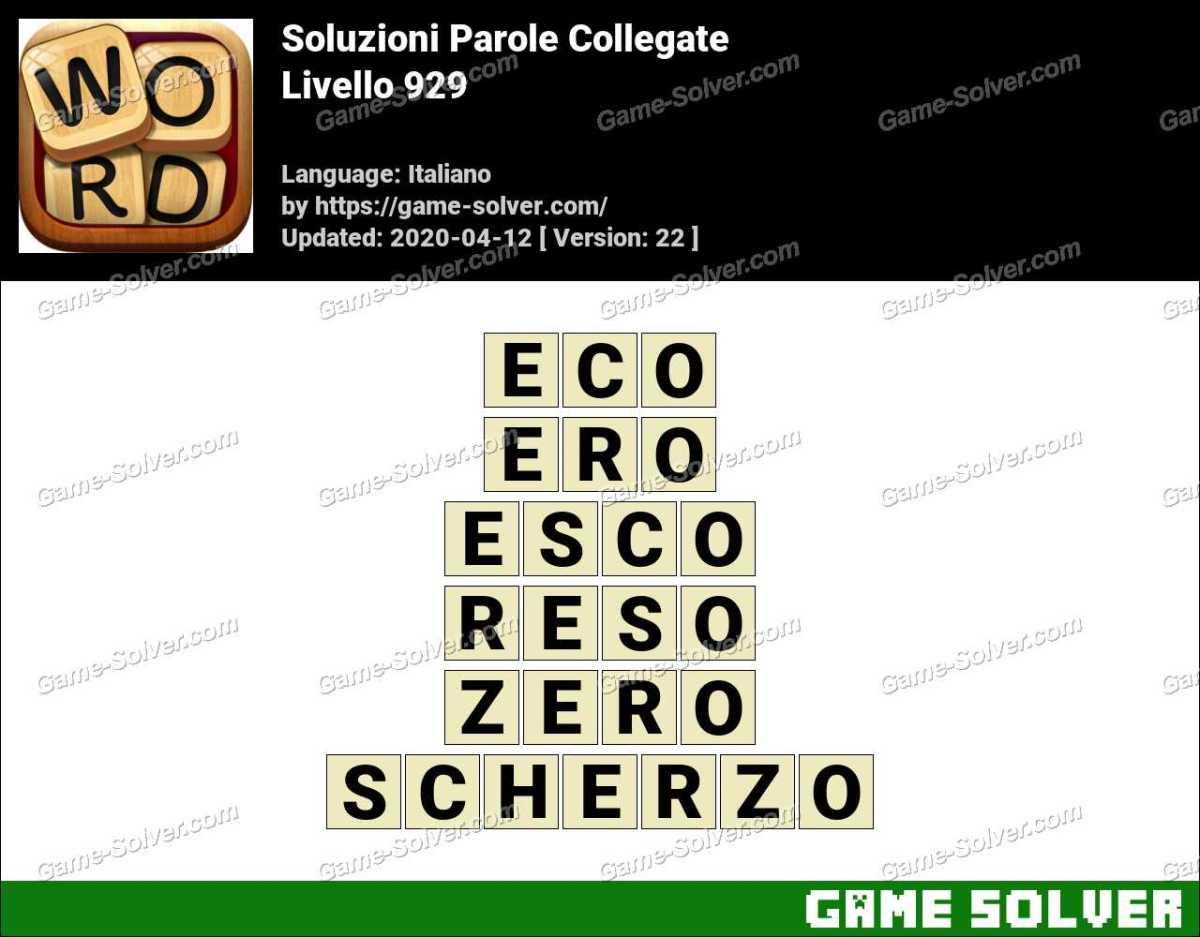 Soluzioni Parole Collegate Livello 929