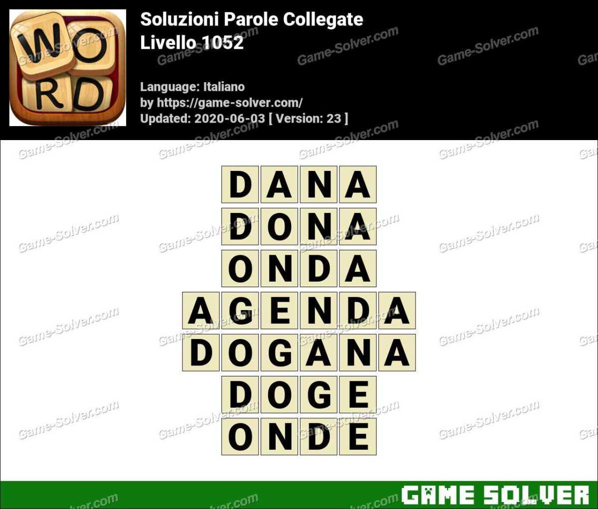 Soluzioni Parole Collegate Livello 1052