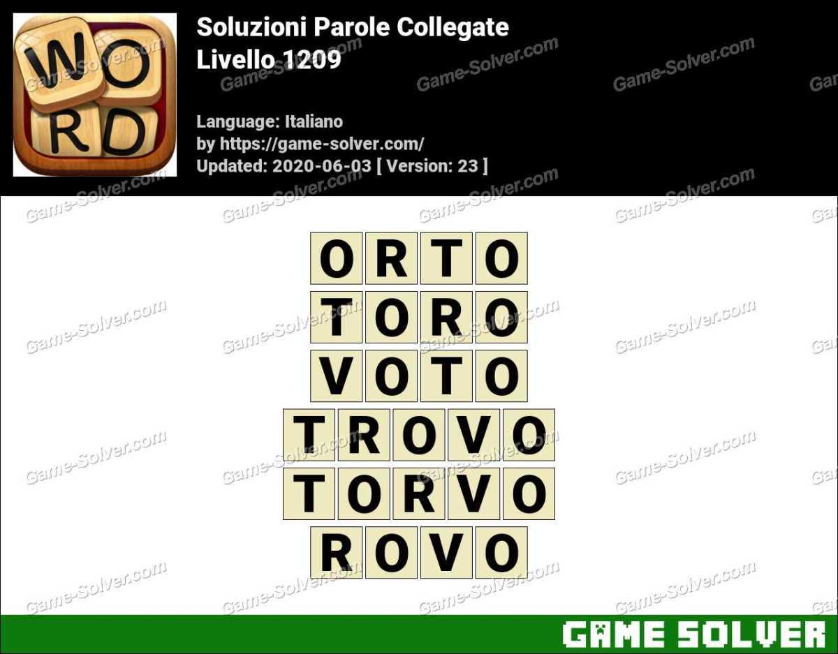 Soluzioni Parole Collegate Livello 1209
