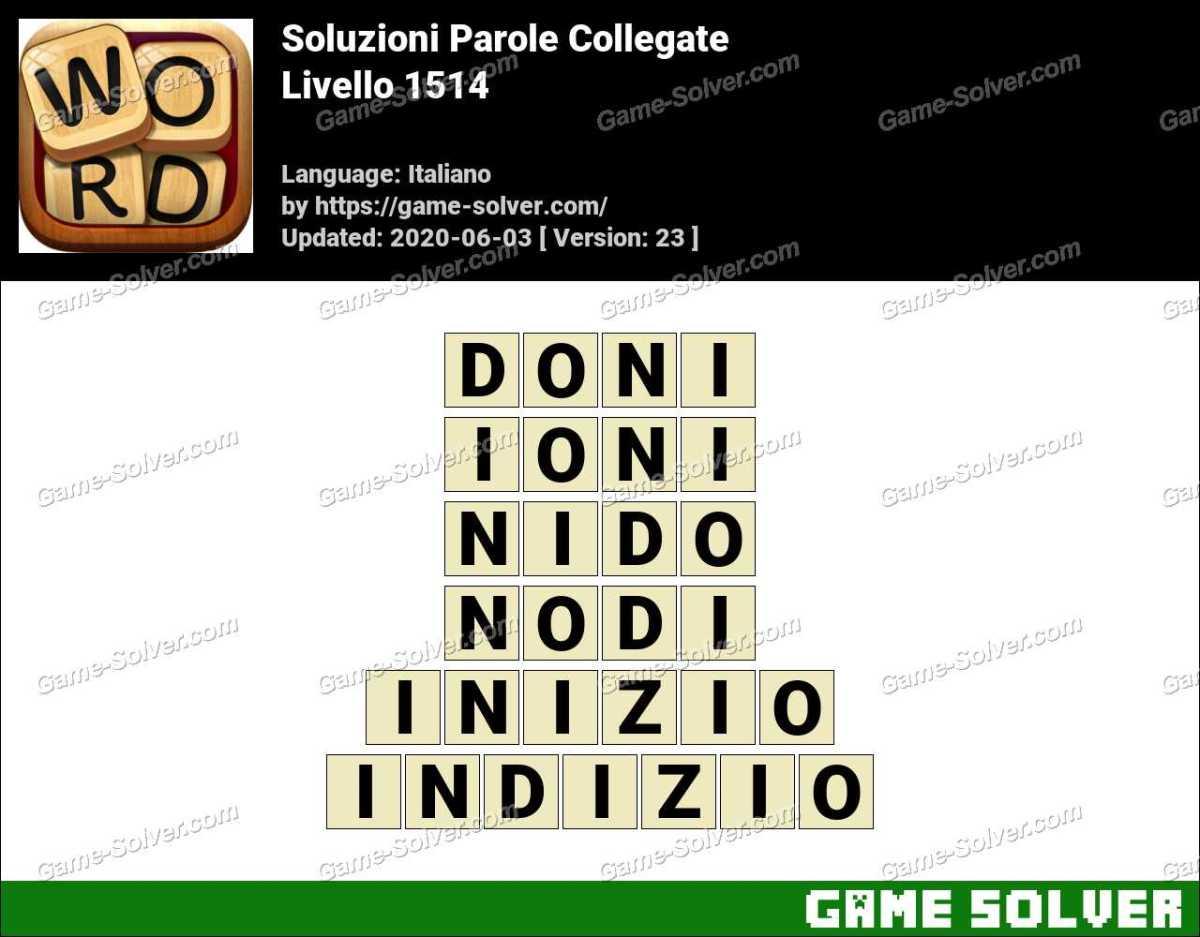 Soluzioni Parole Collegate Livello 1514