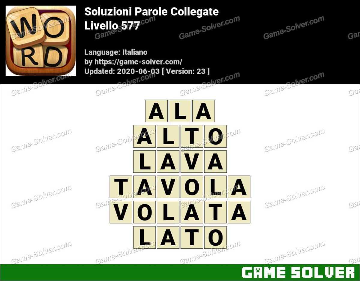 Soluzioni Parole Collegate Livello 577