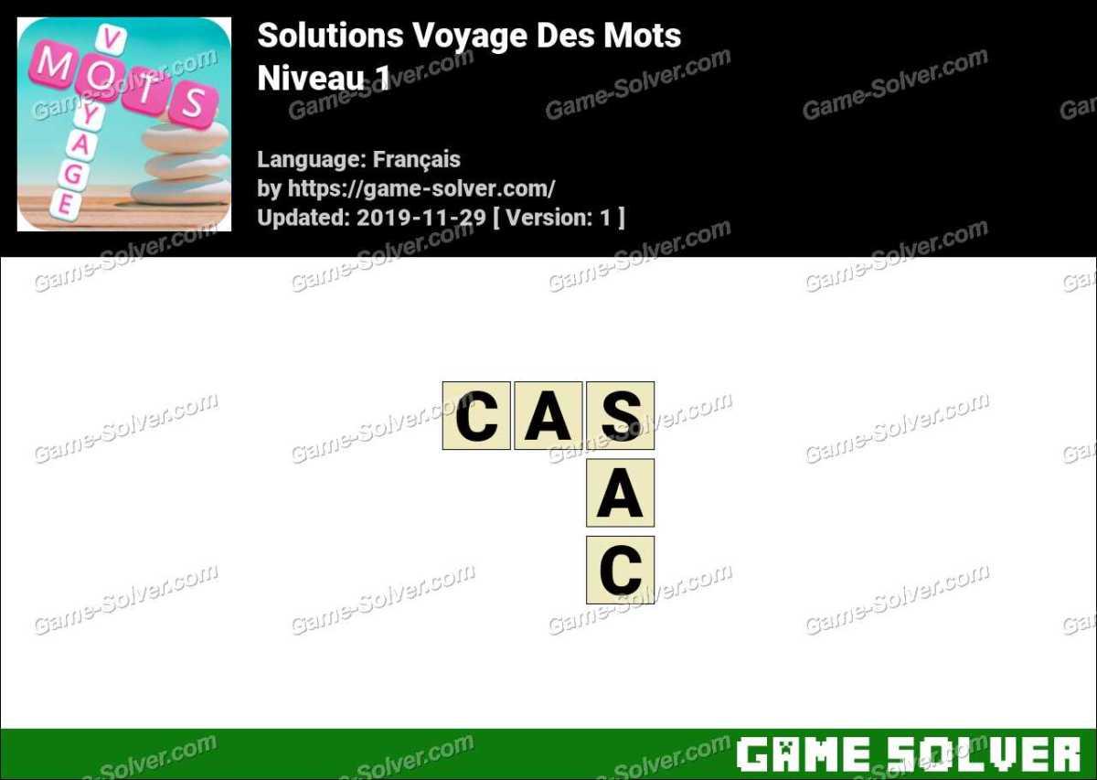 Solution Voyage Des Mots Niveau 1