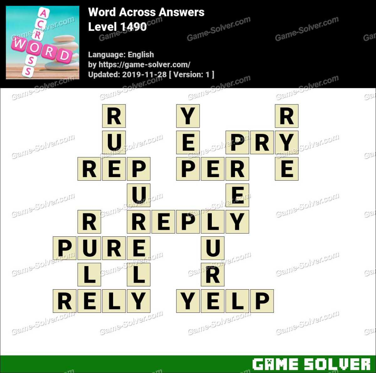 Word Across Level 1490 Answers