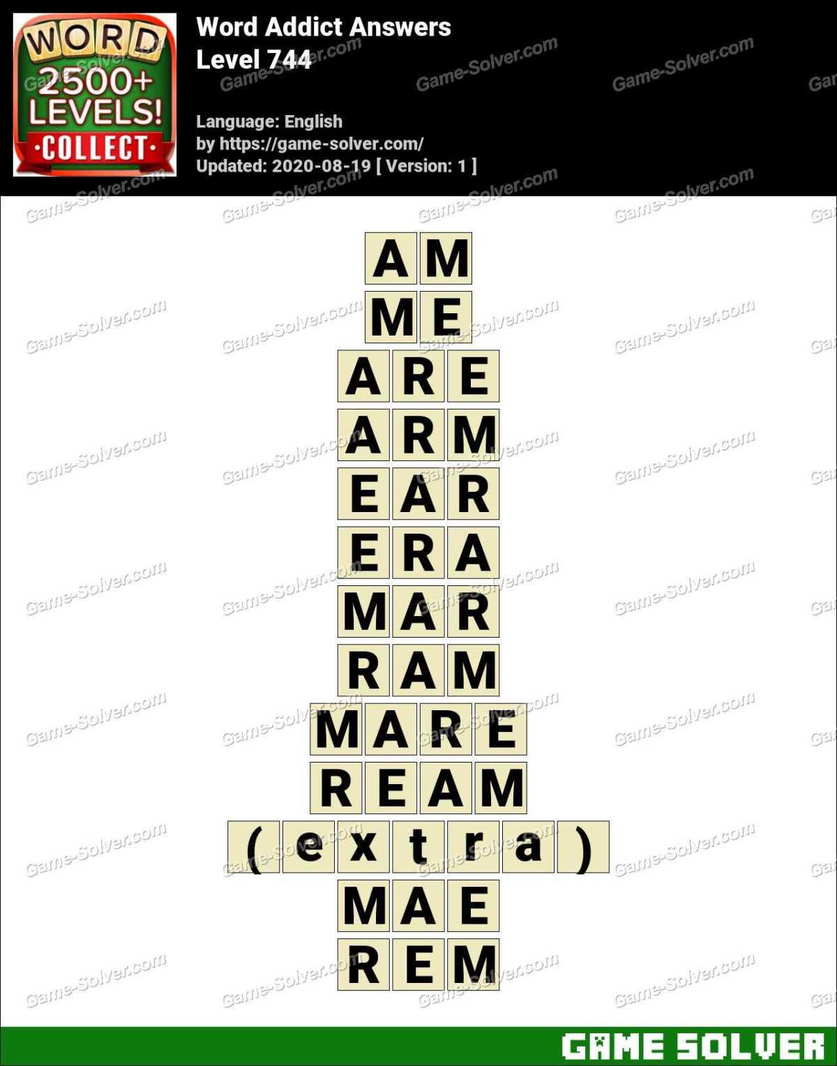 Word Addict Level 744 Answers