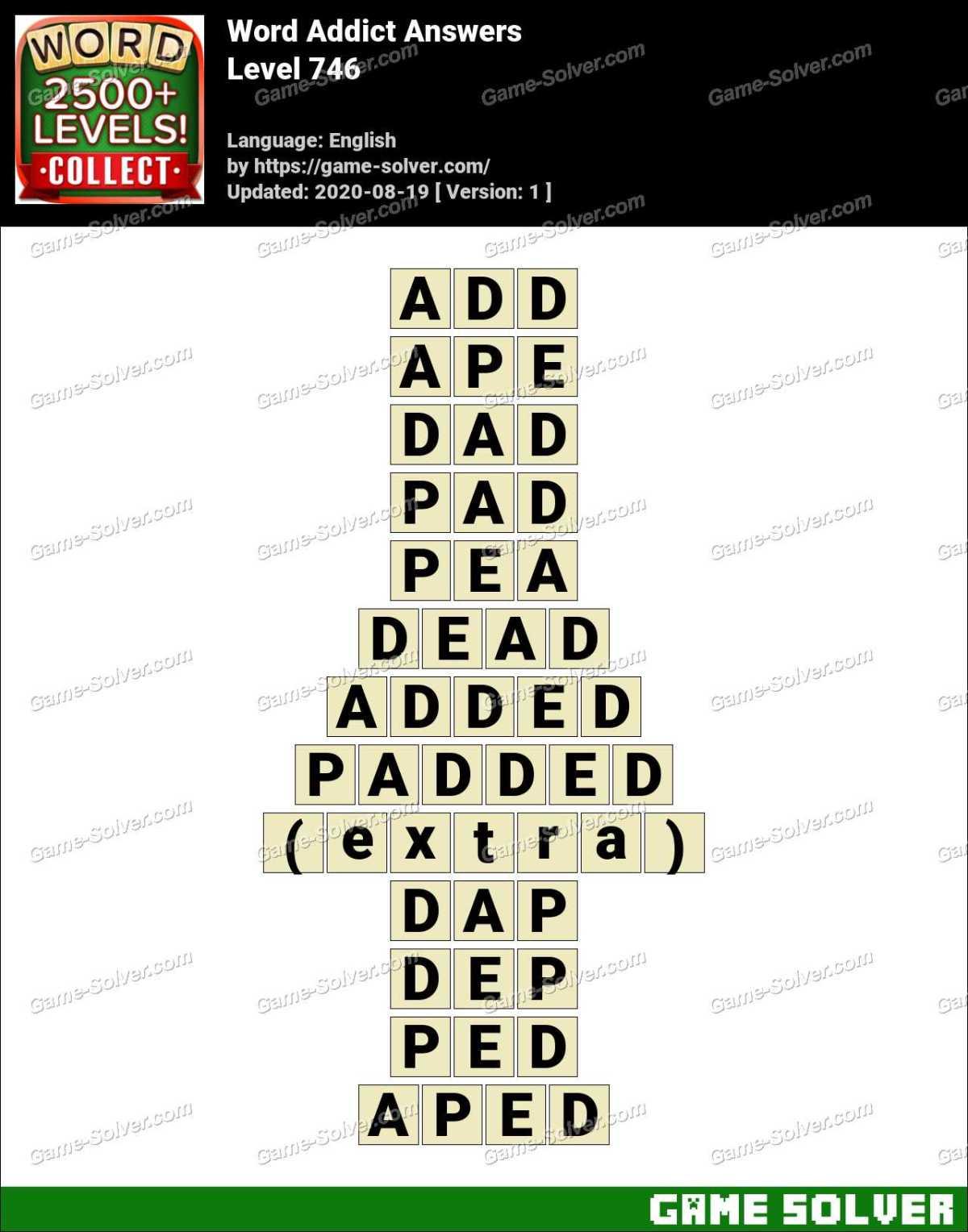 Word Addict Level 746 Answers