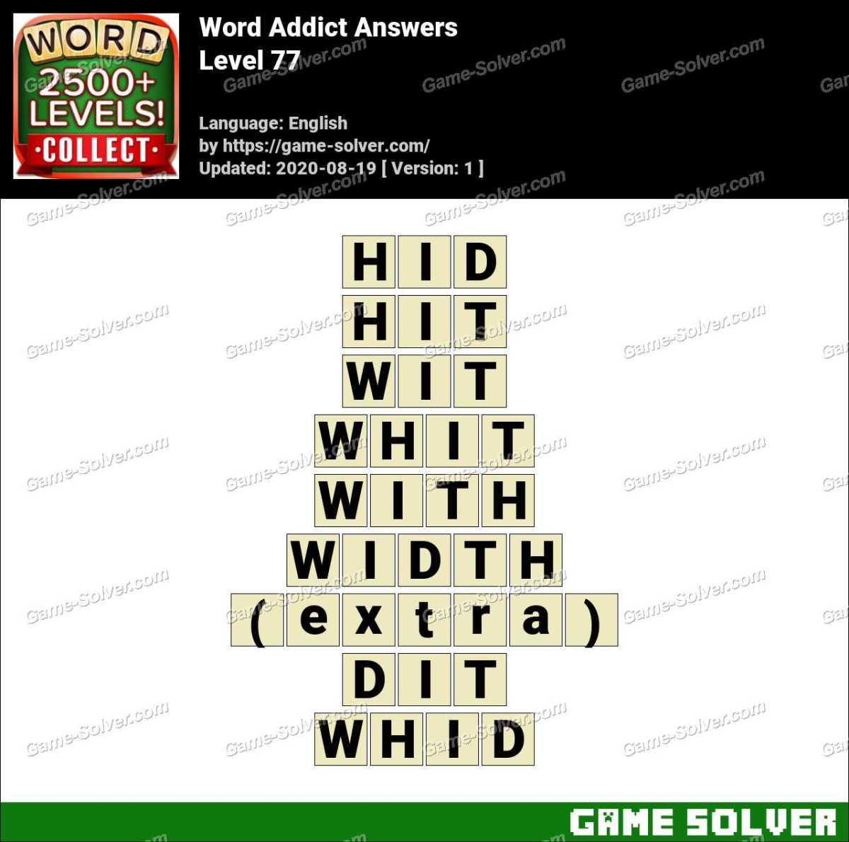 Word Addict Level 77 Answers