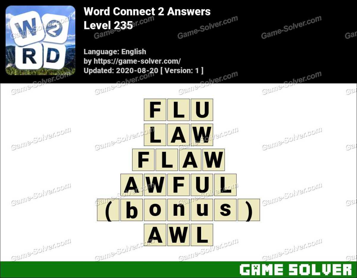 Word Connect 2 Level 235 Answers