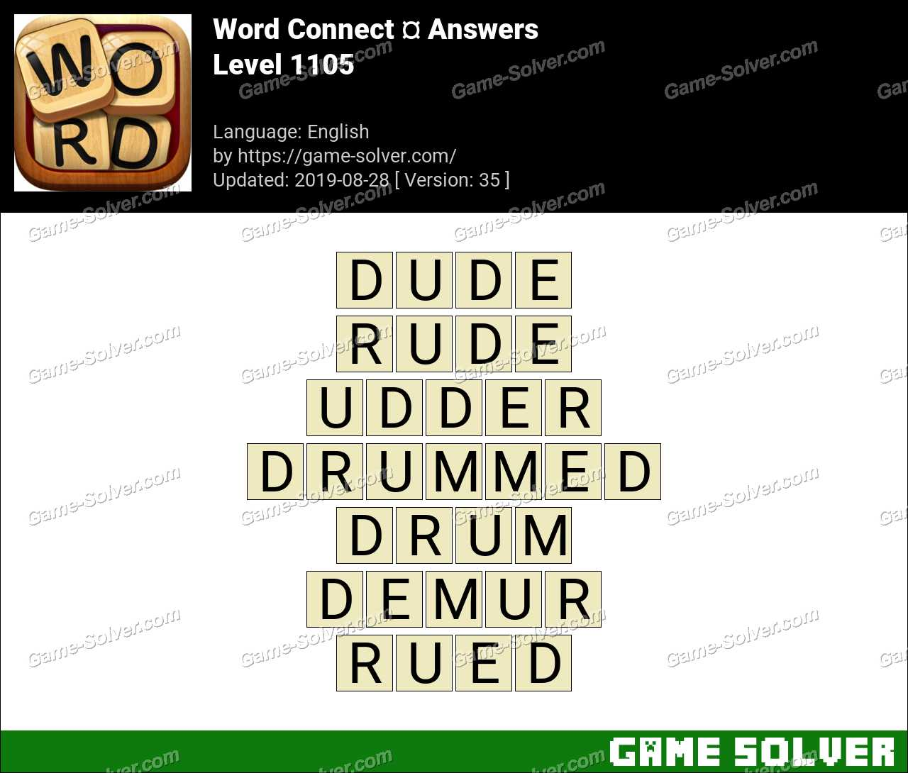 Word Connect Level 1105 Answers