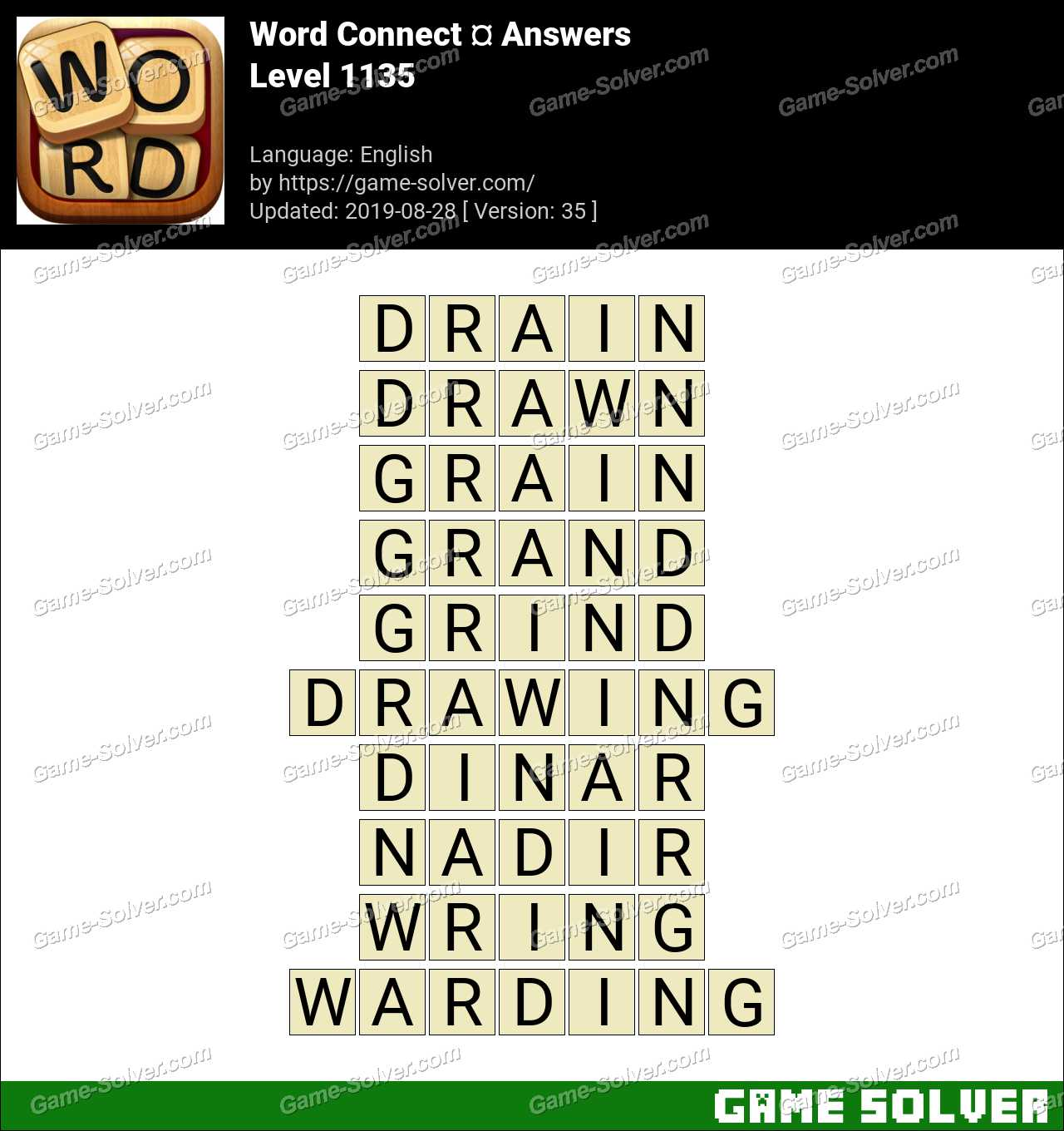 Word Connect Level 1135 Answers