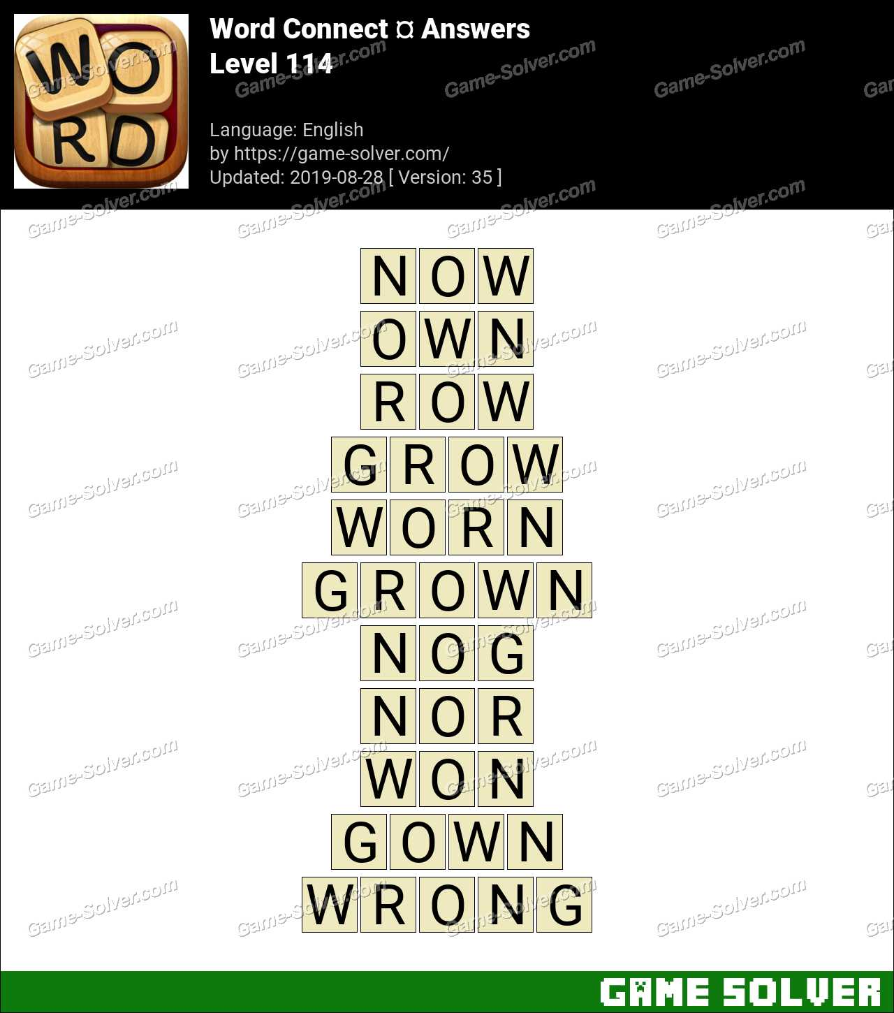 Word Connect Level 114 Answers