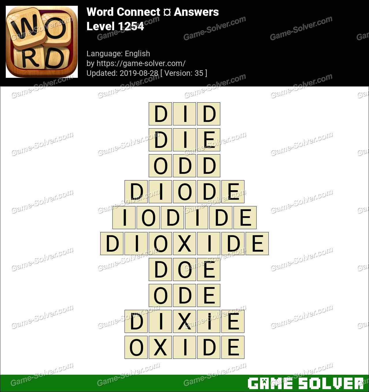 Word Connect Level 1254 Answers