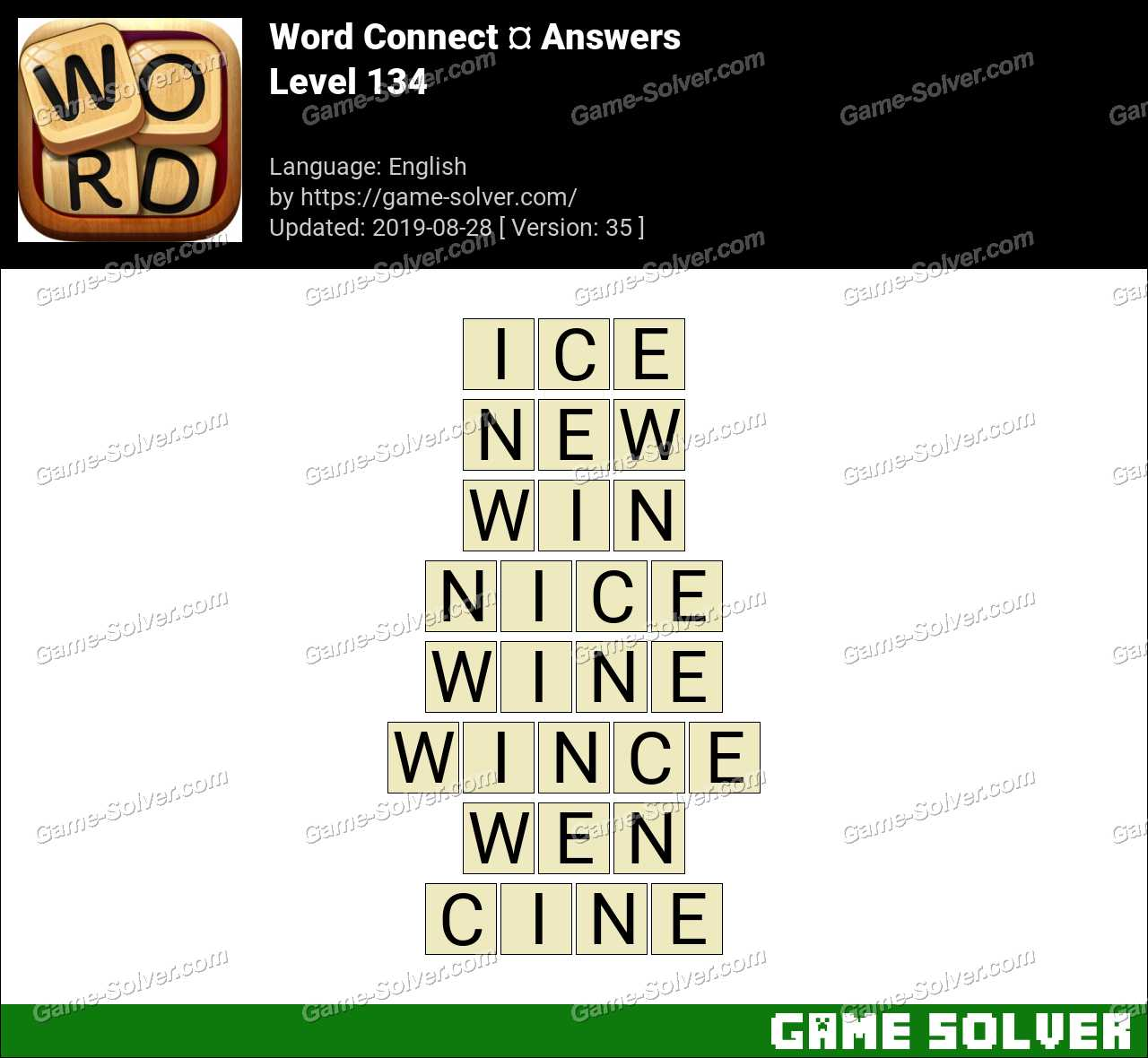 Word Connect Level 134 Answers
