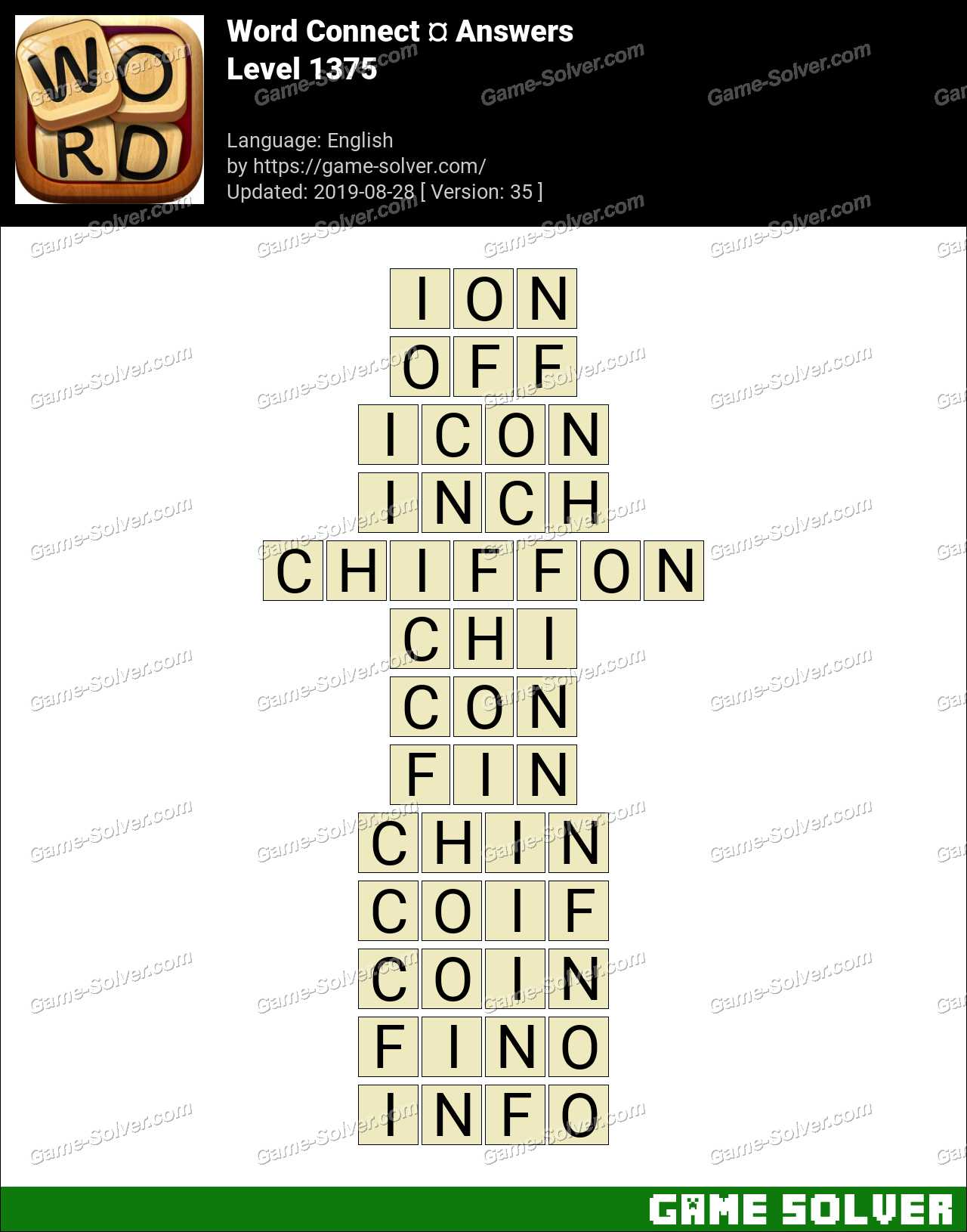Word Connect Level 1375 Answers