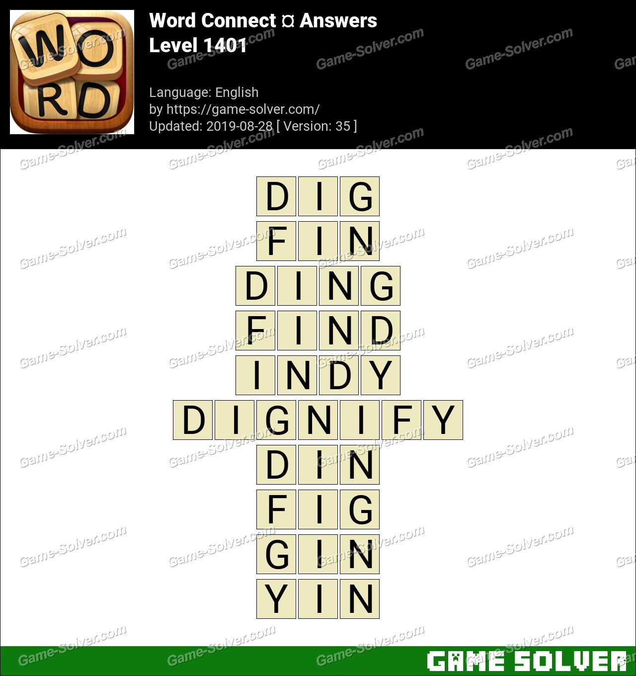 Word Connect Level 1401 Answers
