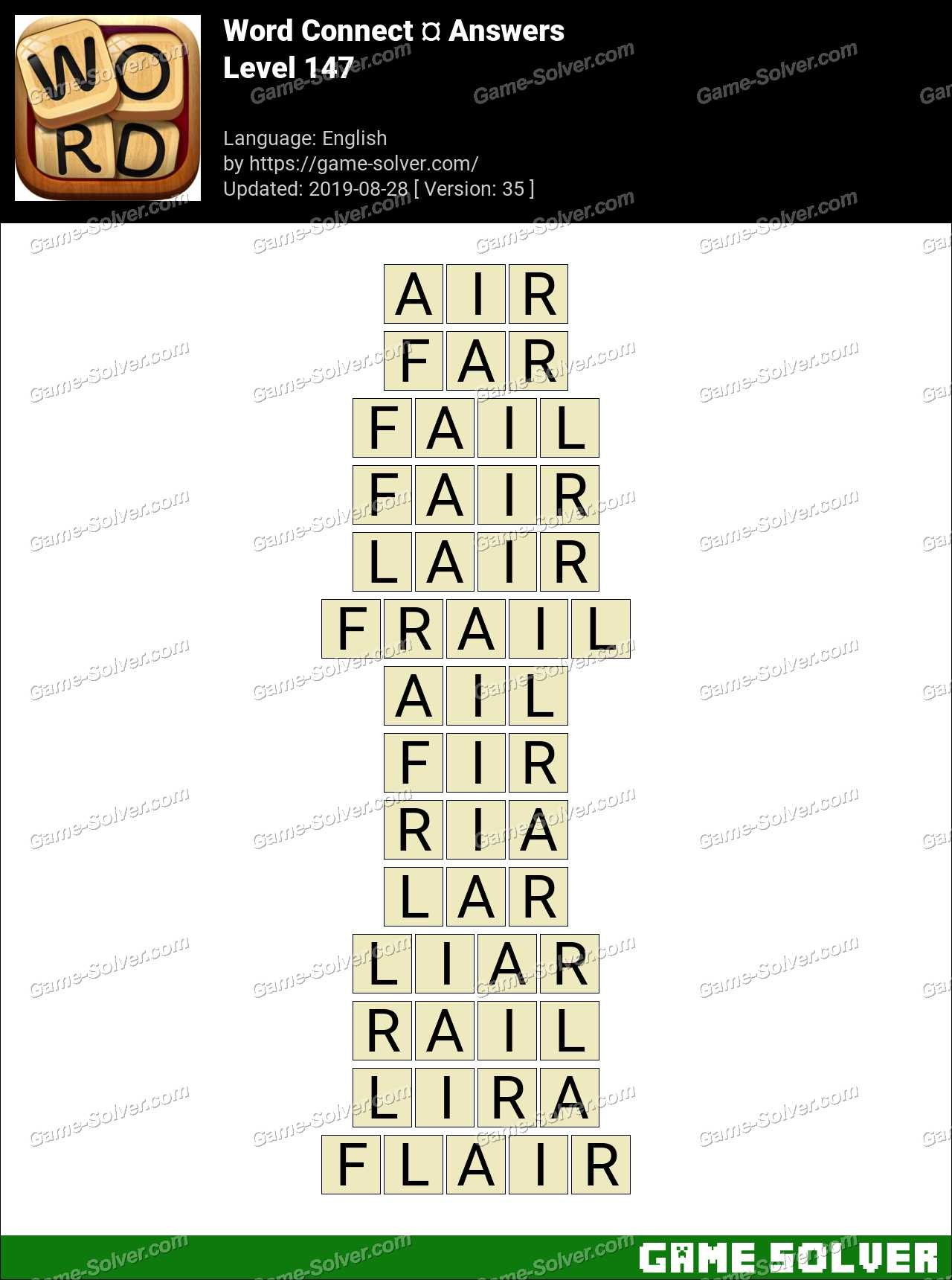 Word Connect Level 147 Answers