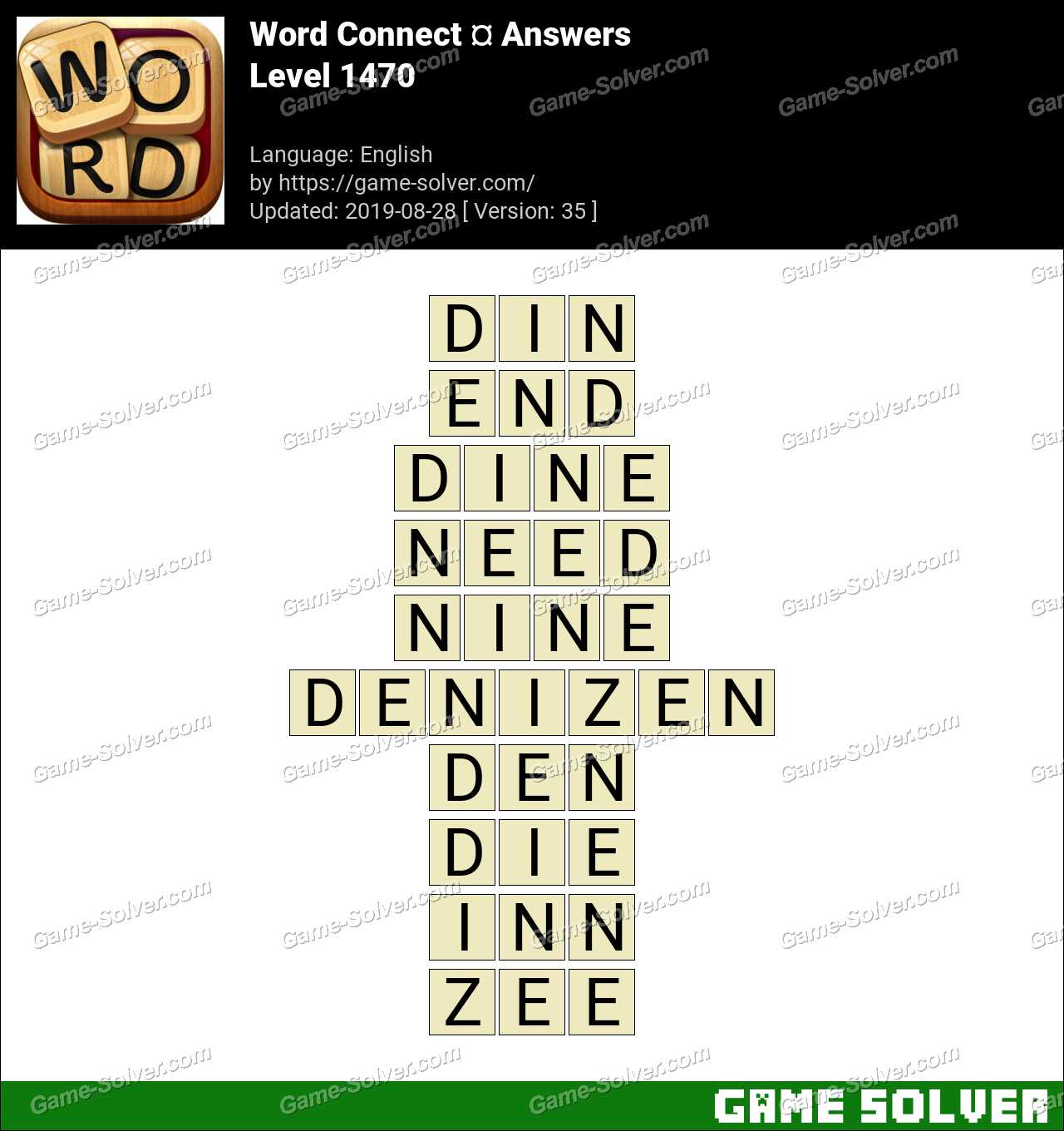Word Connect Level 1470 Answers