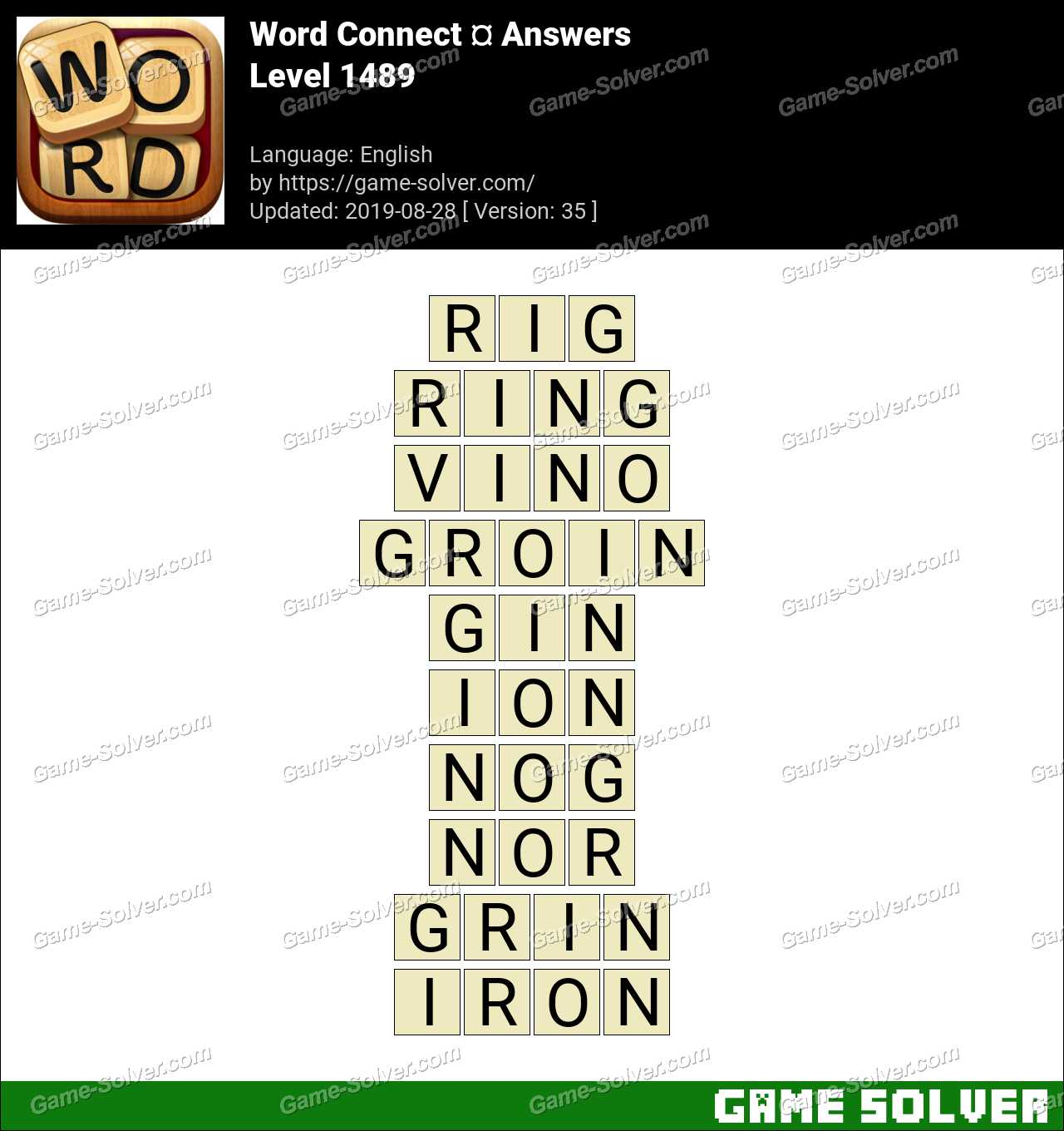 Word Connect Level 1489 Answers
