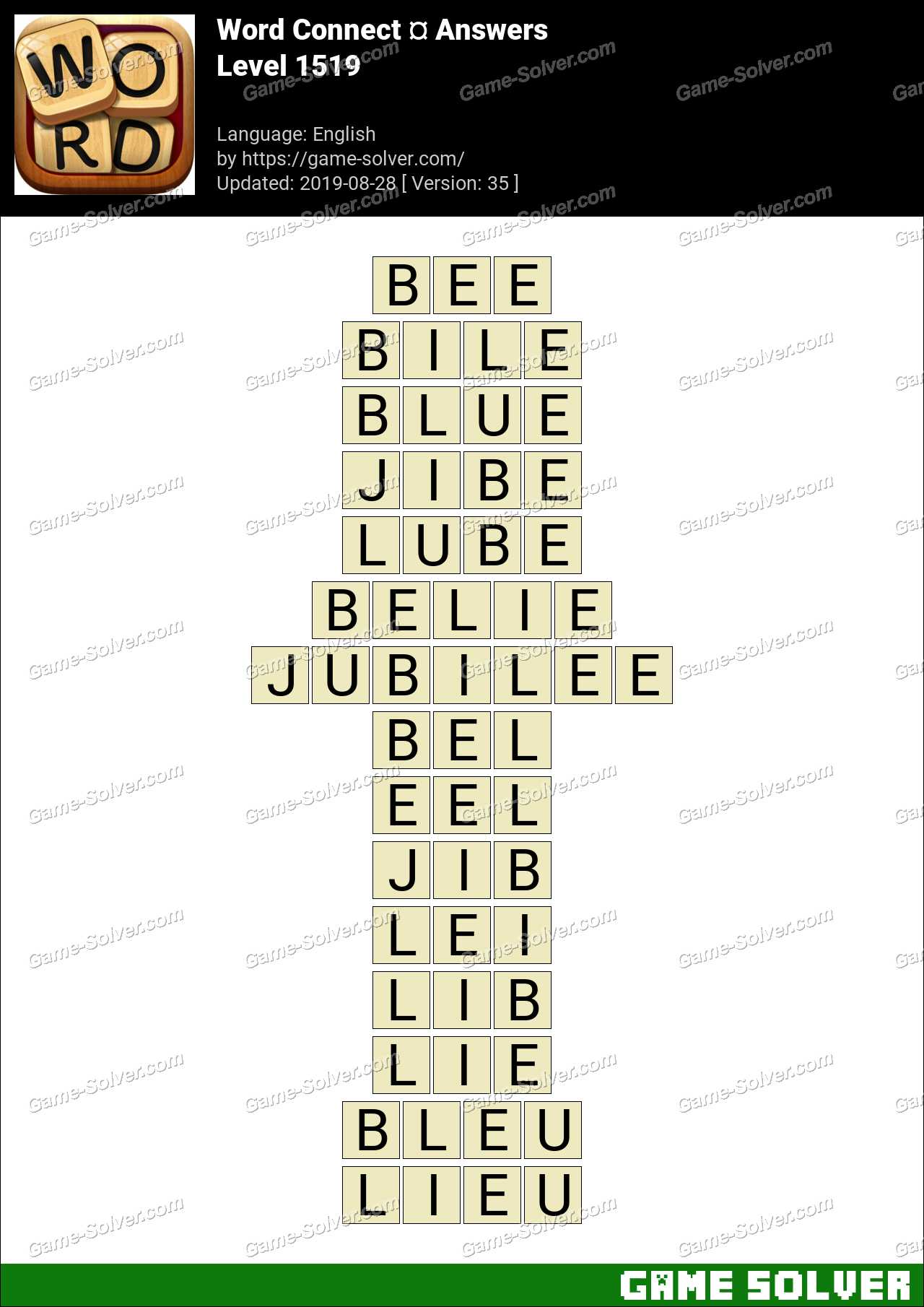 Word Connect Level 1519 Answers
