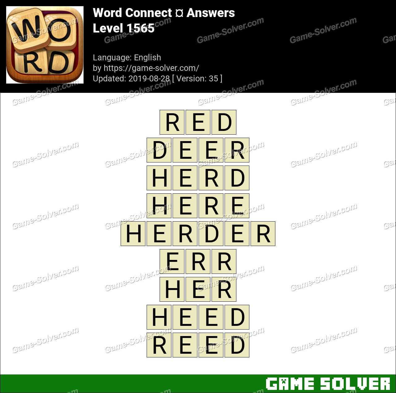 Word Connect Level 1565 Answers