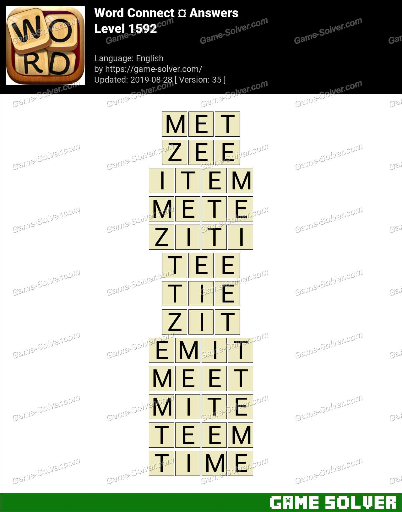 Word Connect Level 1592 Answers