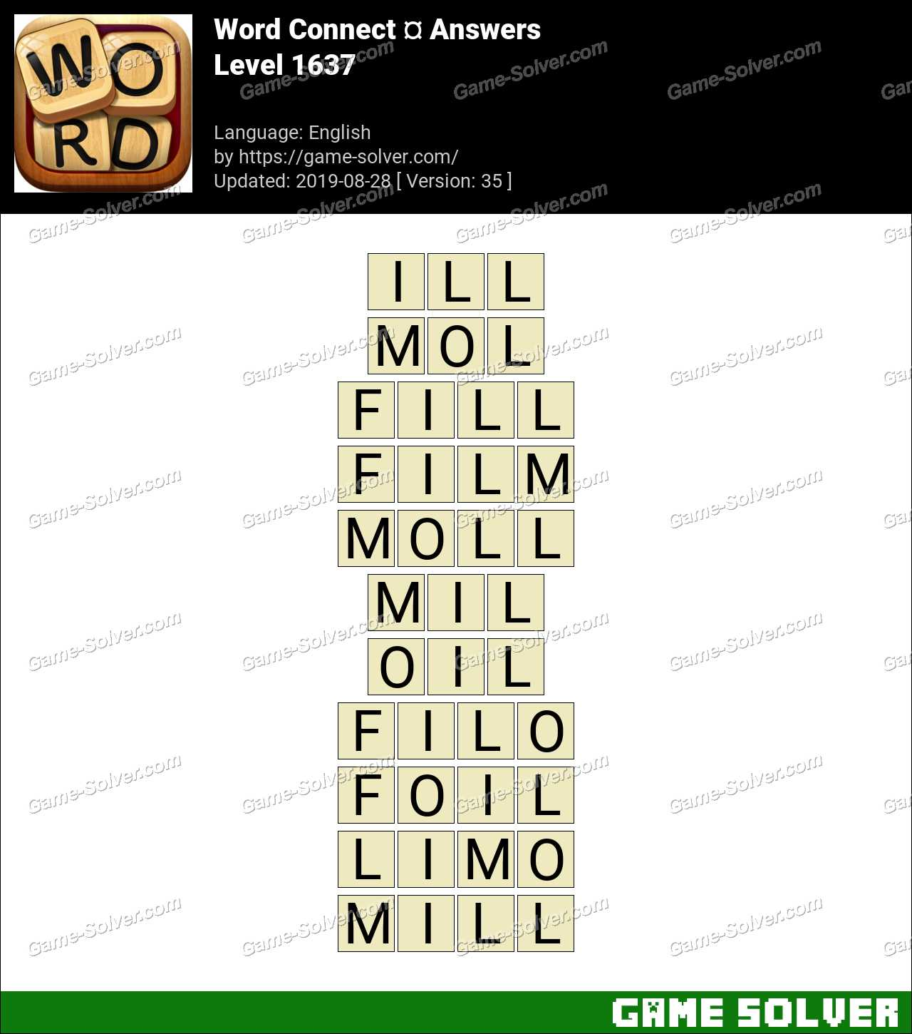 Word Connect Level 1637 Answers