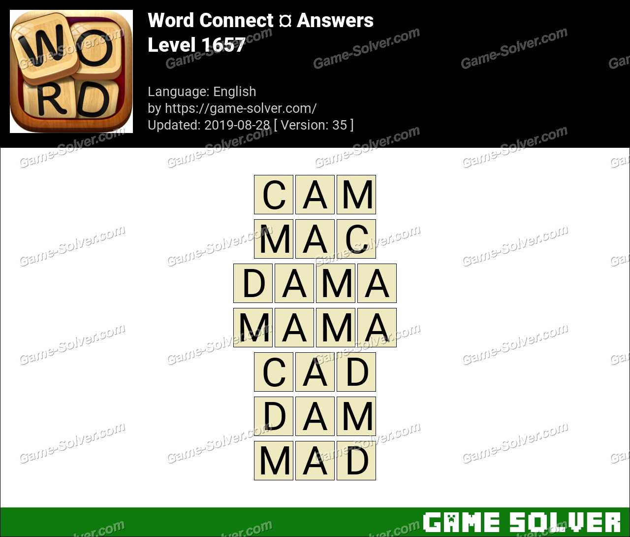 Word Connect Level 1657 Answers