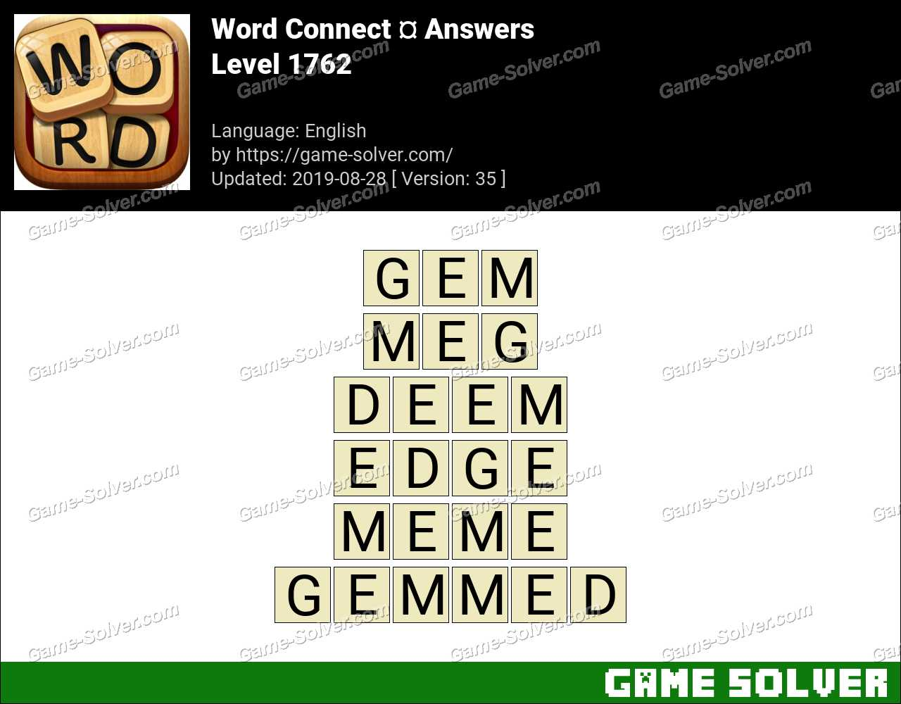 Word Connect Level 1762 Answers