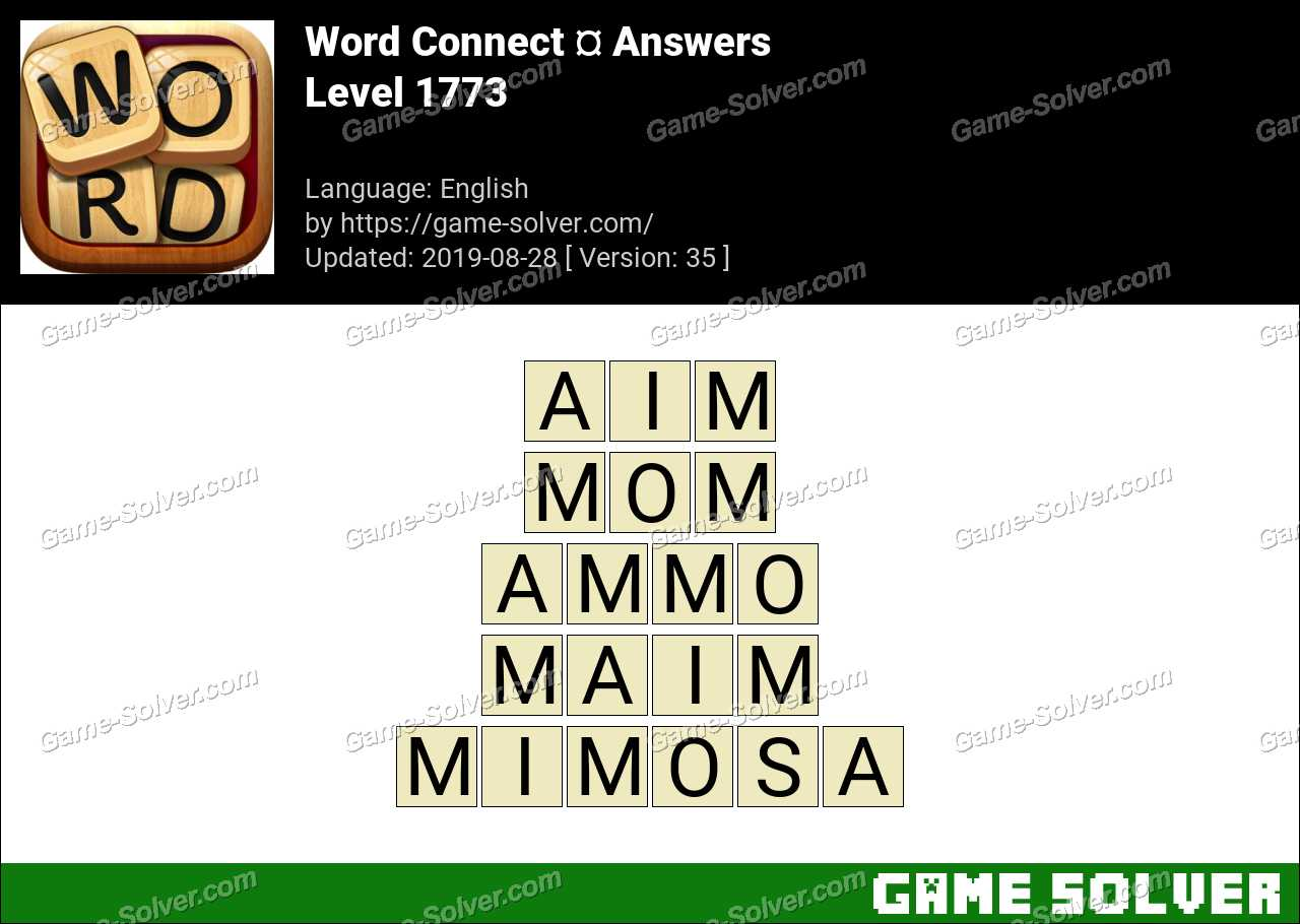 Word Connect Level 1773 Answers