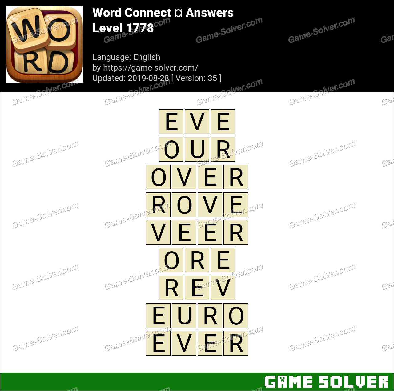 Word Connect Level 1778 Answers