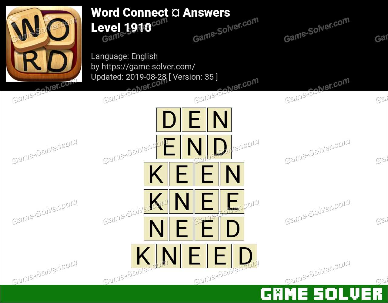 Word Connect Level 1910 Answers