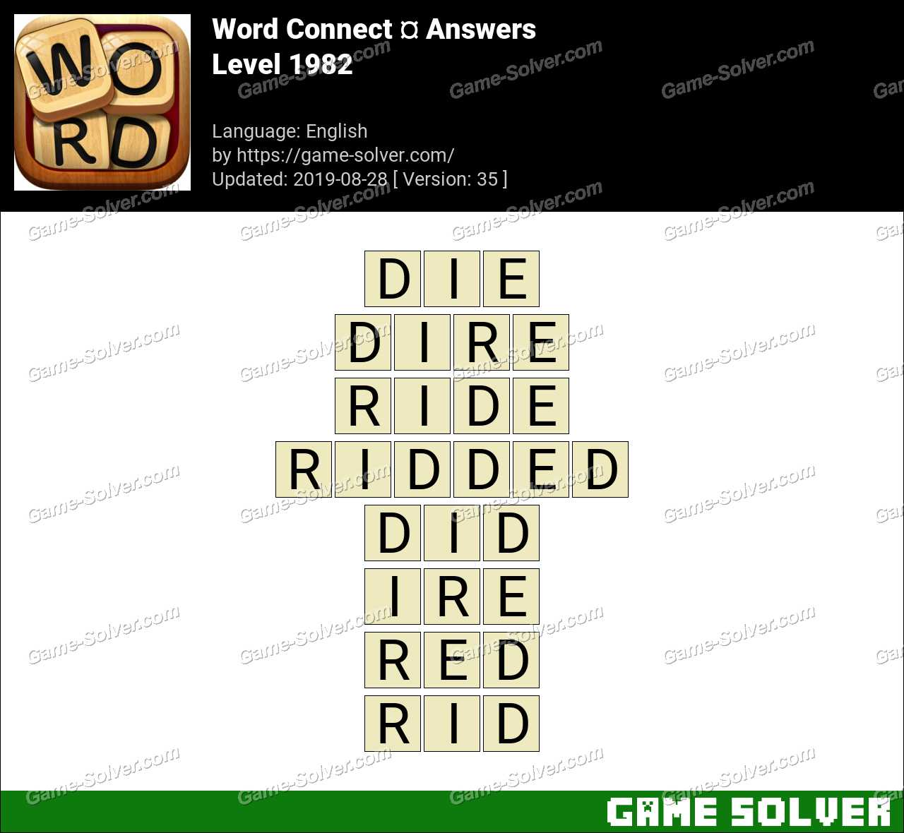 Word Connect Level 1982 Answers